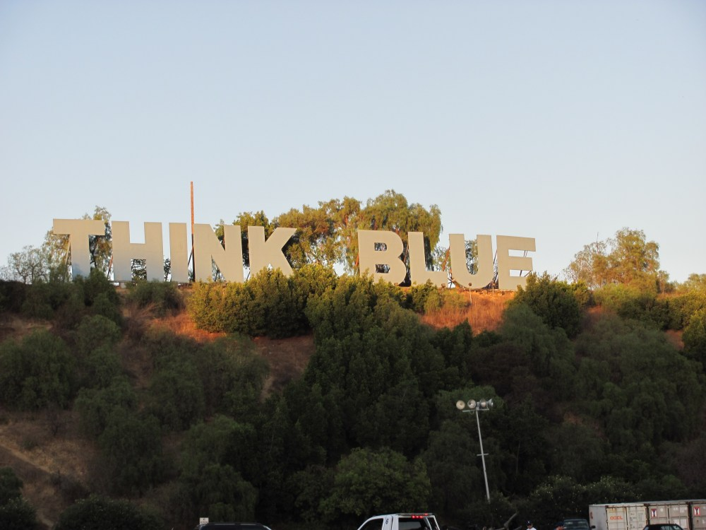 Think Blue Sign (4/6)