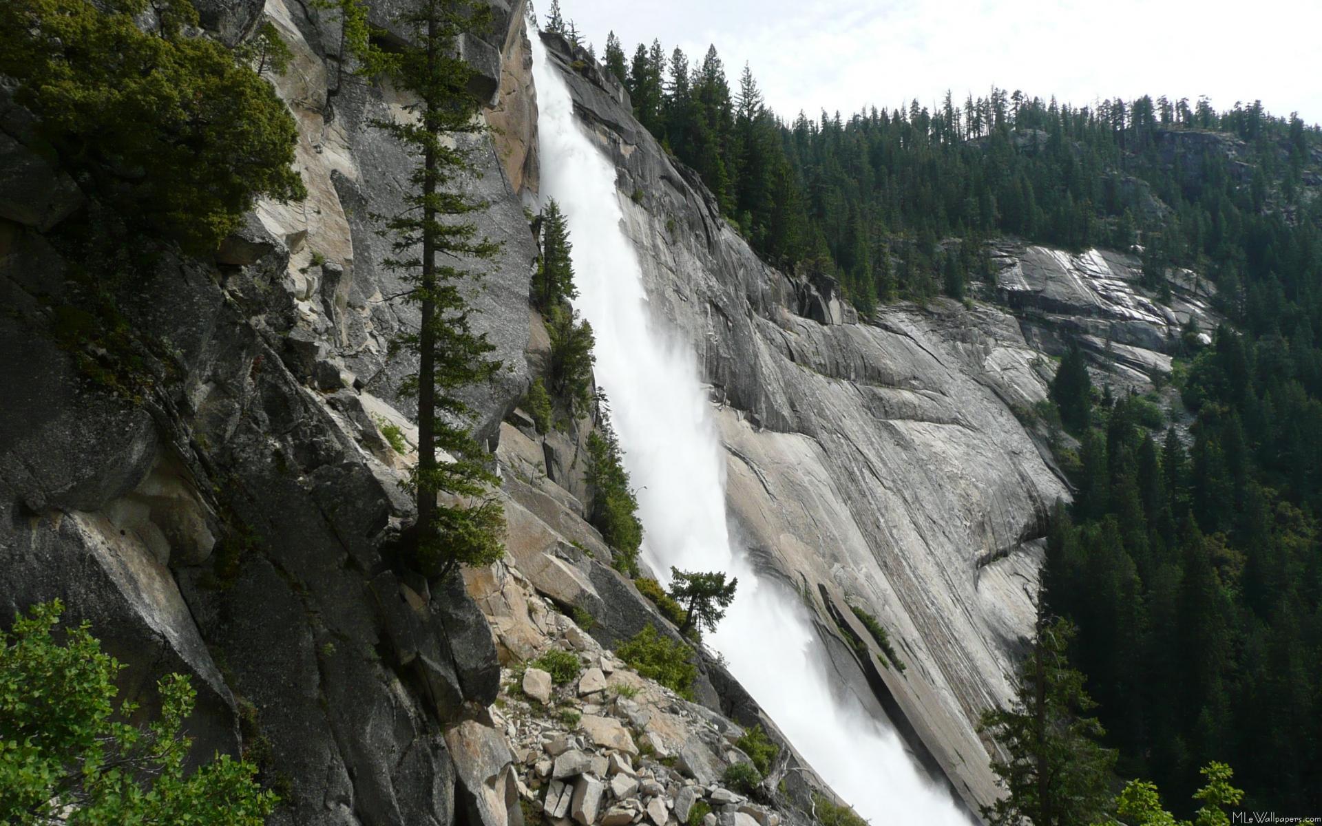 Yosemite Falls Wallpaper Mlewallpapers Com Nevada Falls