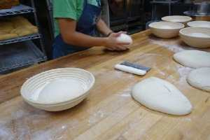 forming bread loaves
