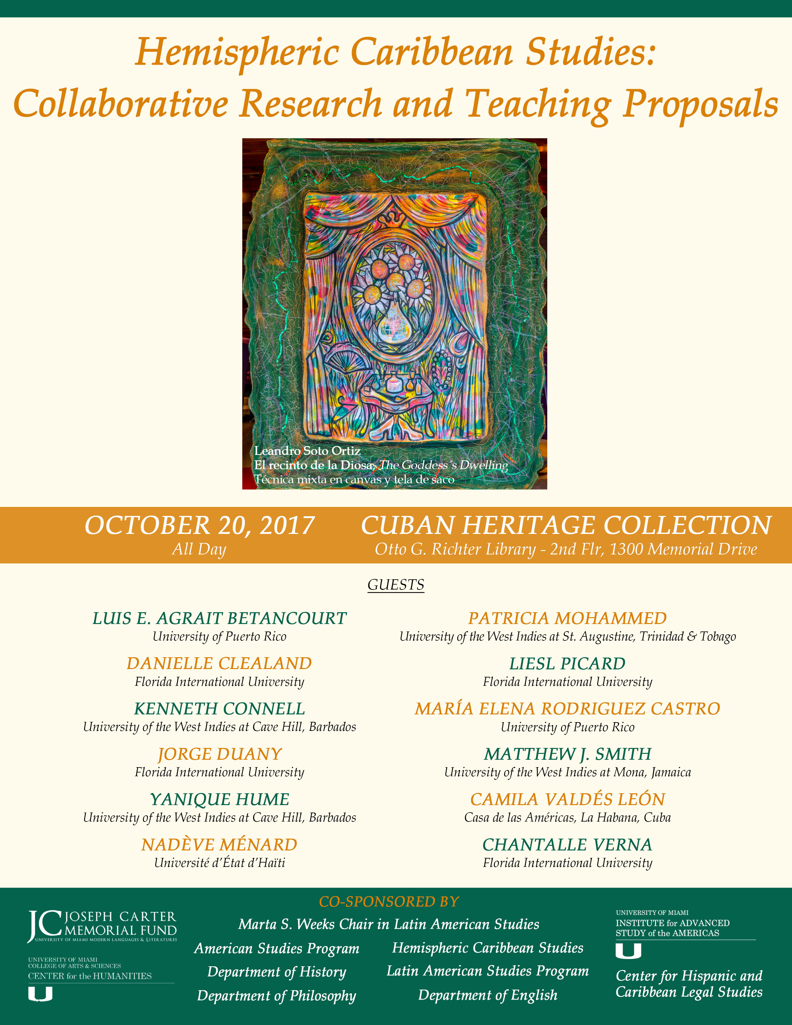 Arte De Vivir Meaning In English Past Events Modern Languages Literatures University Of Miami