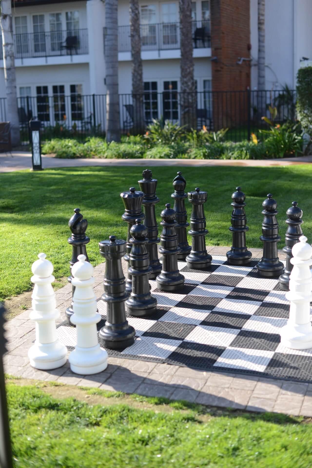 life size chess set at omni la costa