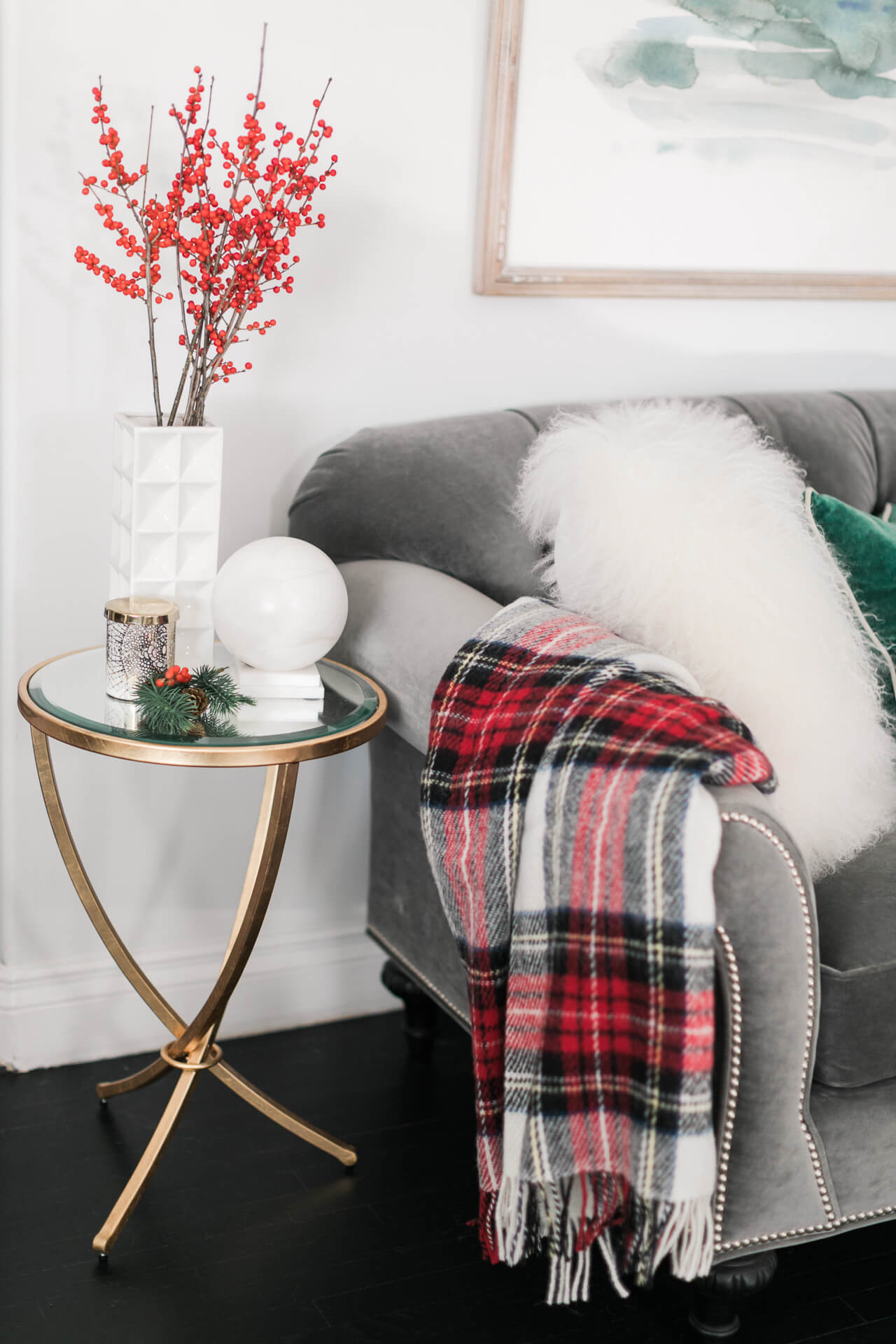 add cozy elements to your holiday decor
