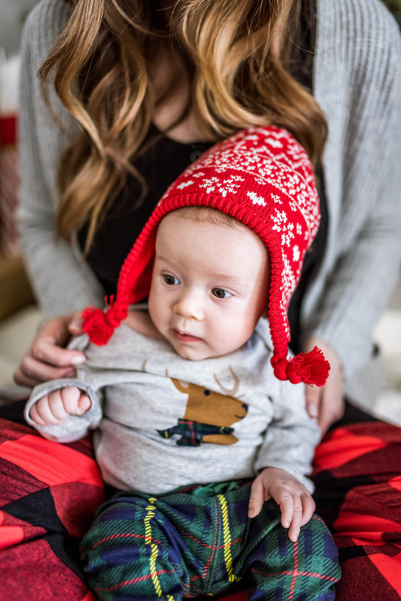 the cutest red christmas hat on augustine