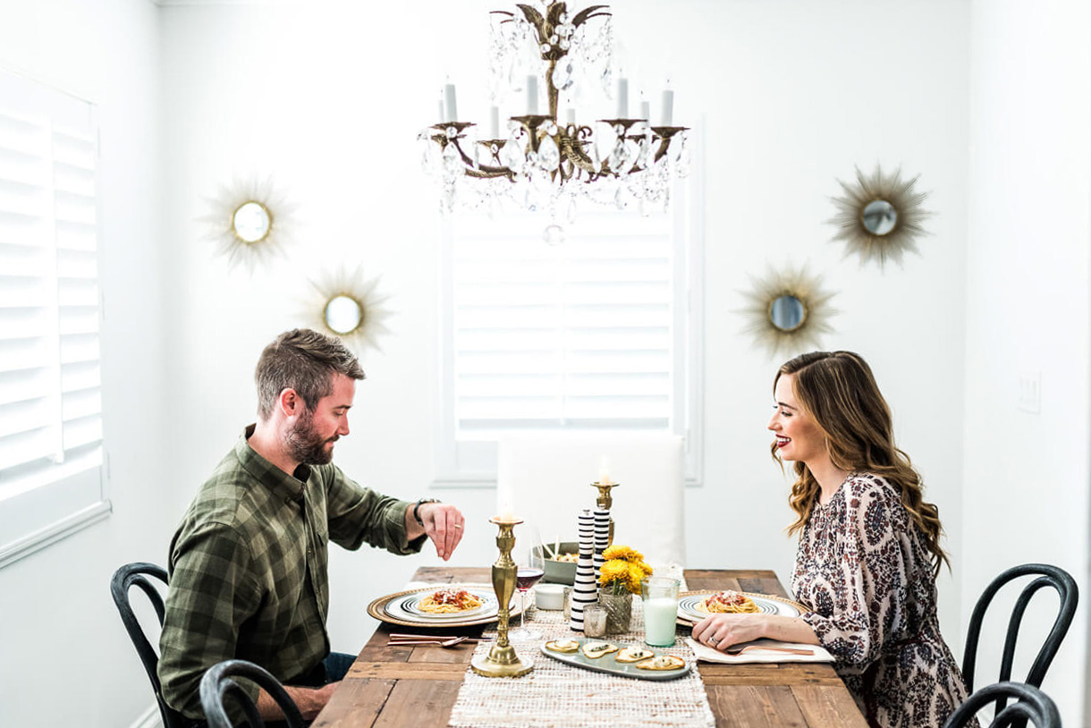 dinner date night at home