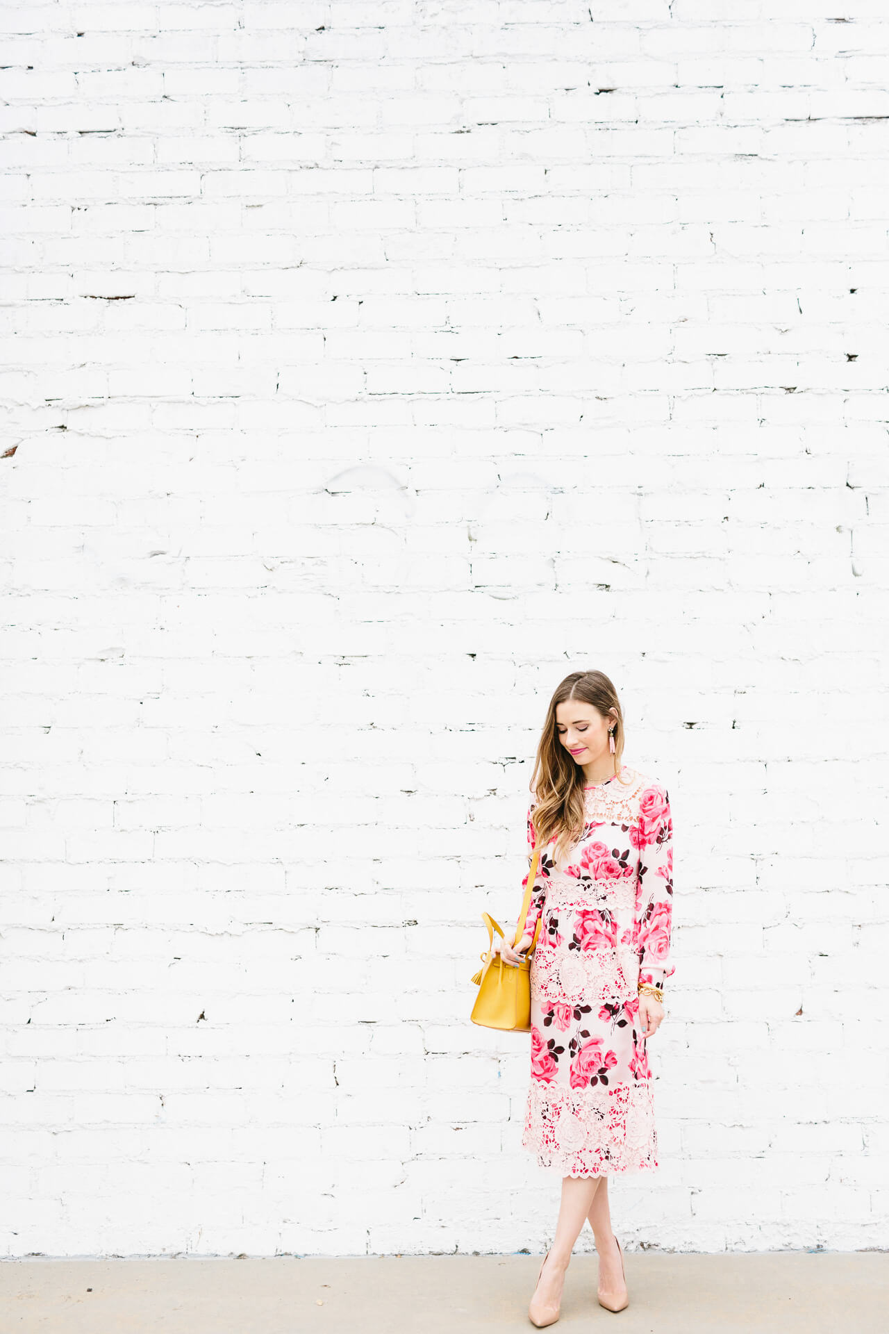 a dress worth splurging for- would be so pretty for a wedding, baby shower, or spring event