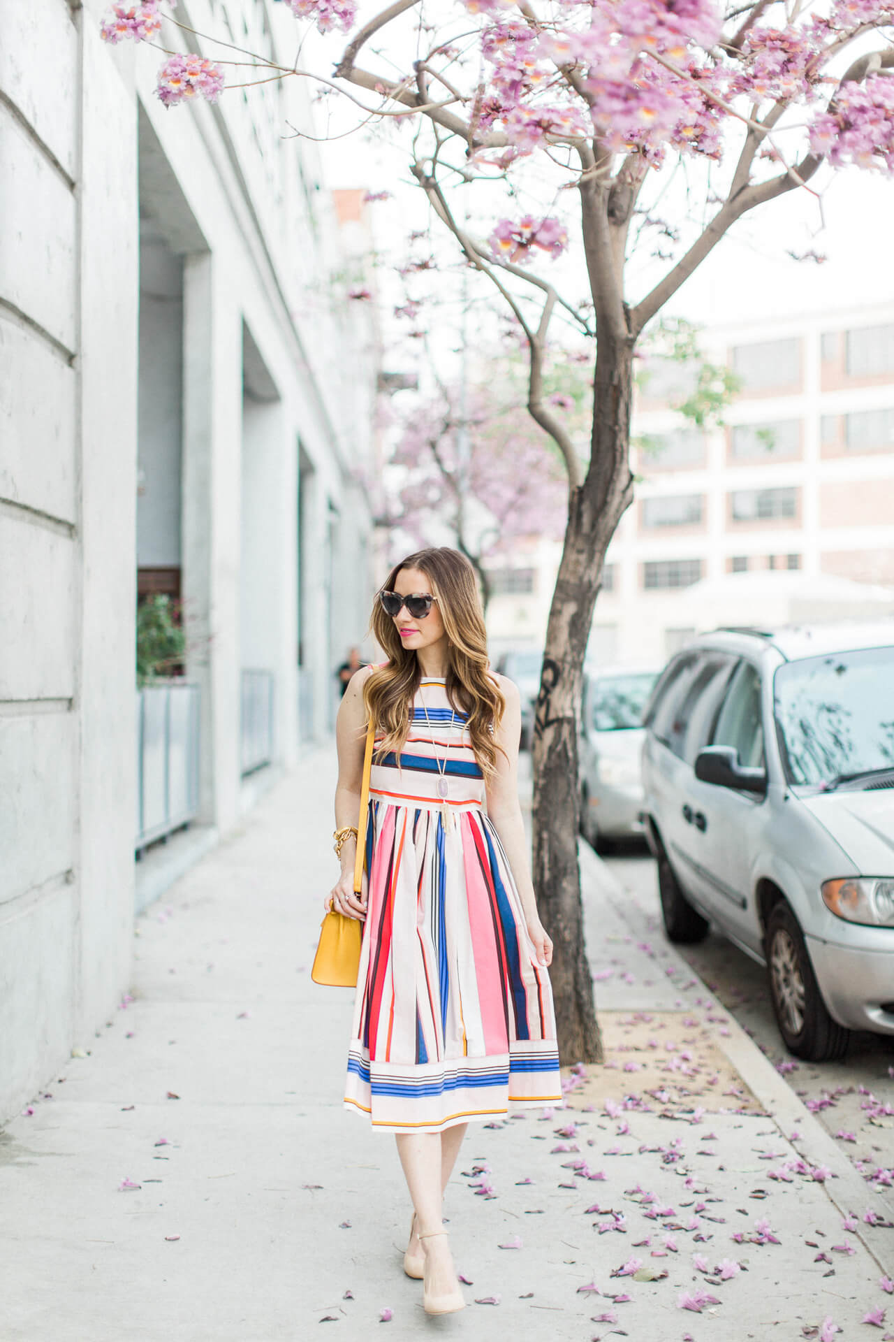the prettiest striped dress for spring