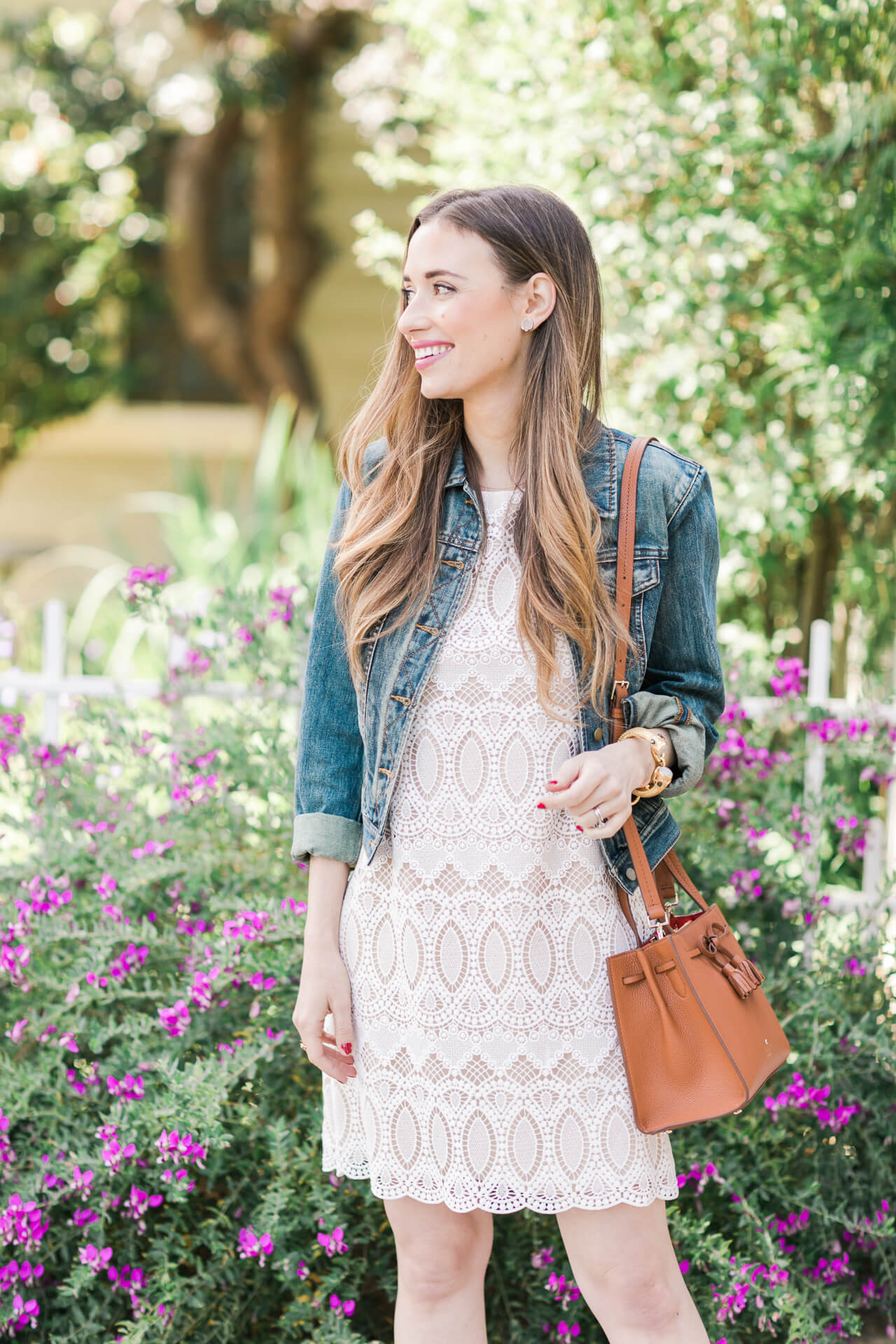 casual outfit inspiration with a lace dress