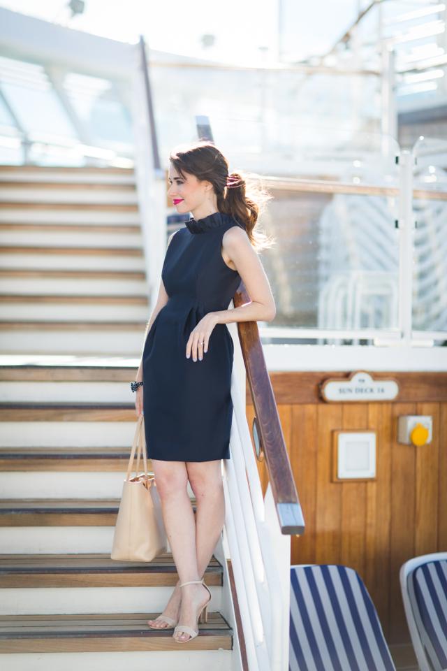 navy ruffle dress M Loves M @marmar