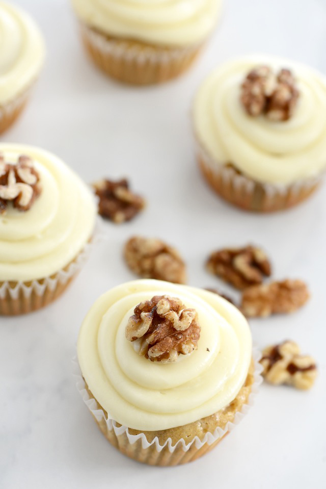 a recipe for delicious Maple Walnut Cupcakes with Cream Cheese Frosting