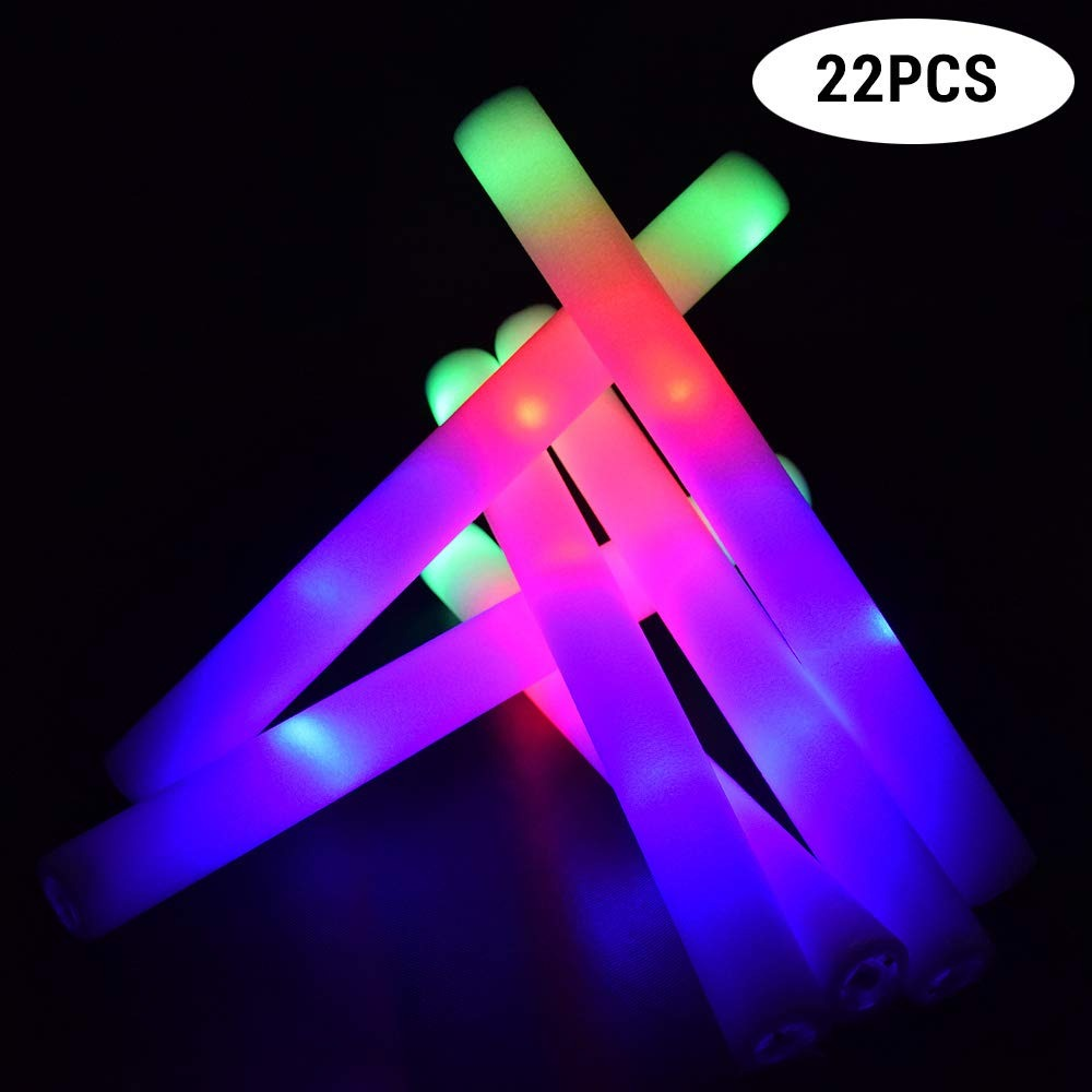 Led Glow Sticks 22 Pcs Pack 16 Led Glow Sticks De Espuma 3 Modos Interm