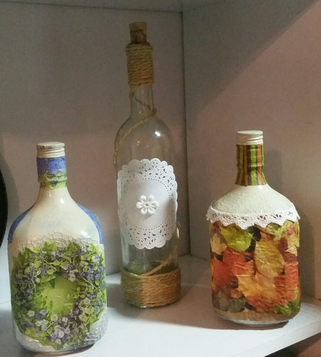 Comprar Botellas Decoradas Botellas Decoradas Artesanales X 3 280 00 En Mercado Libre