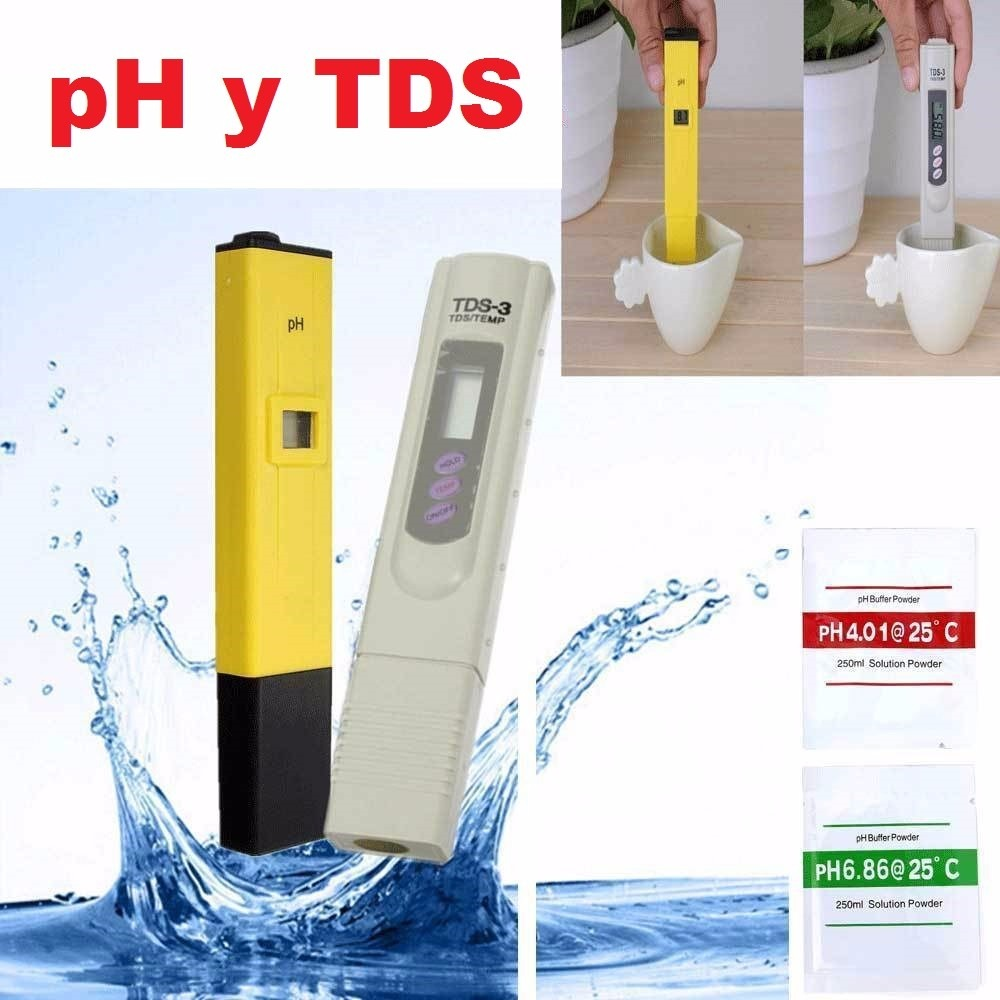 Medidor Ph Piscina Kit Medidores Digitales De Ph Y Tds Ideal Para Piscinas