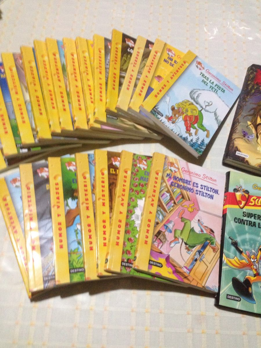 Comprar Libros Geronimo Stilton Libros Coleccion Geronimo Stilton Impecables Super Divertido 350 00