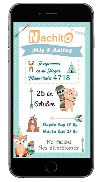Tarjetitas De Invitación Virtuales, Formato Whatsapp - $ 200,00 en