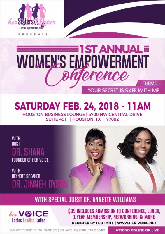 empower her flyers - Experorderingsystem - networking flyers