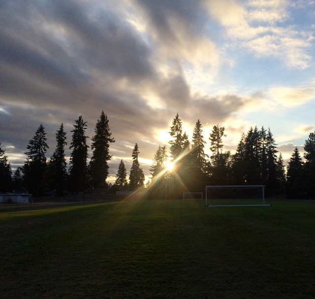 Evergreen Playfield at sunset. (Photo by David Carlos)