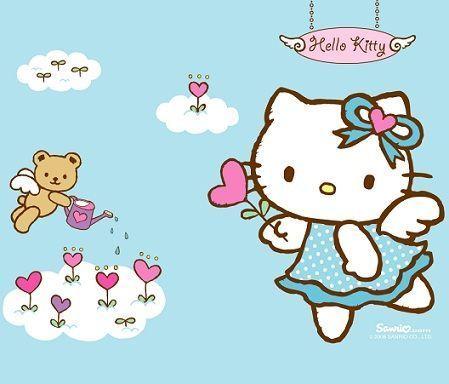 3d Wallpaper Hello Kitty Fondos De Escritorio De Hello Kitty