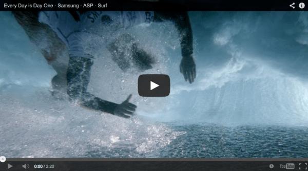 Samsung lança o seu primeiro anúncio sobre o surf