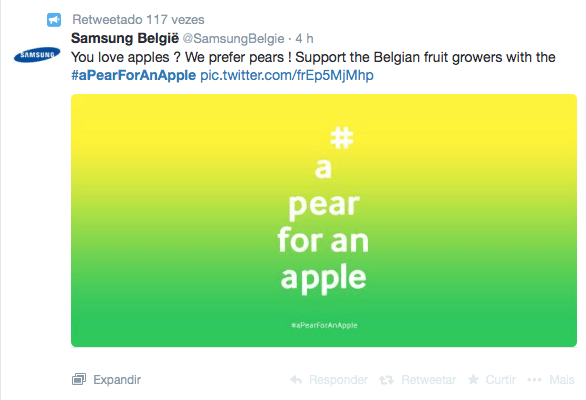 Samsung 'rouba' o grande dia da Apple com... pêras da Bélgica!