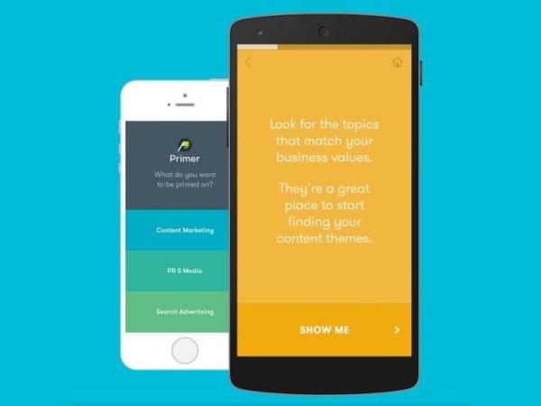 Primer: A aplicação da Google para ensinar marketing aos empreendedores
