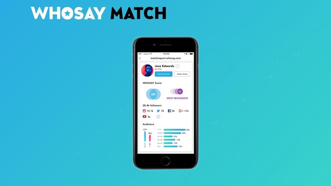 Whosay Match - à procura de influenciadores