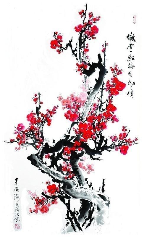 Wallpaper Black And White Flowers 王安石梅花 工笔梅花 梅花画法 梅花扳手 7262图片网
