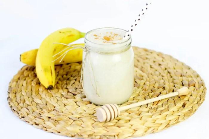 bananowy koktajl na ciepło
