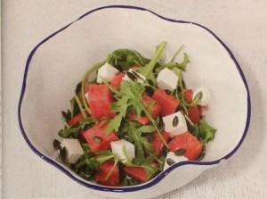 Салат с брынзой и арбузом