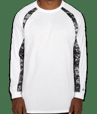 Custom Badger Digital Camo Long Sleeve Performance Shirt ...