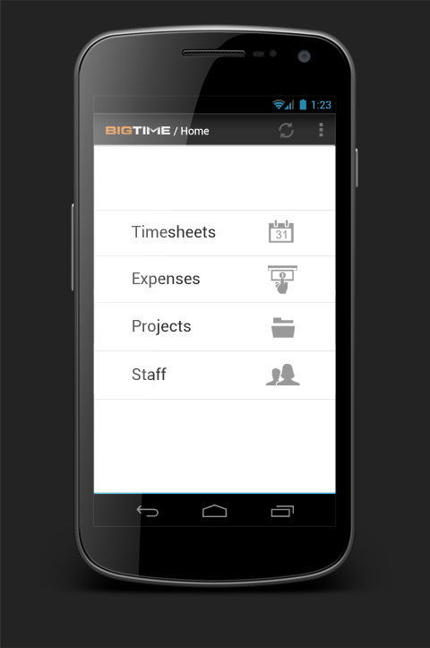 BigTime Releases Android Version of Its Popular Mobile Time - business expense tracking app