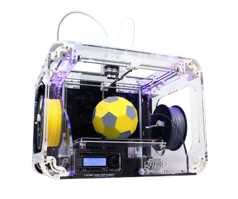 The new Airwolf 3D AW3D HD2x streamlines dual hot end printing by combining the versatility of two h ...