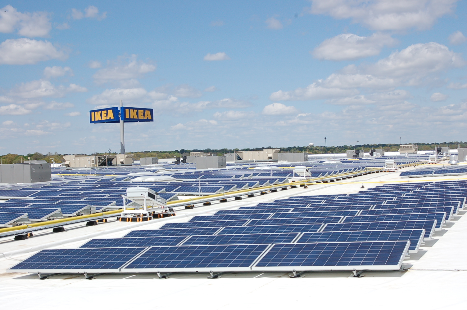 ikea completes state s largest rooftop solar array atop recently