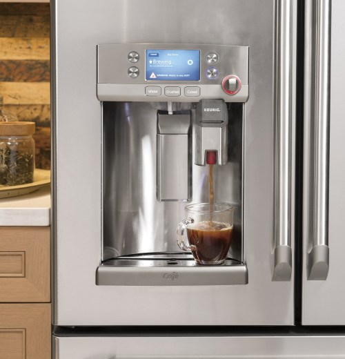 Astonishing A Keurig System Built Ge Caf Is A Refrigerator Keurig Reviews Fridge Keurig Inside Fridge