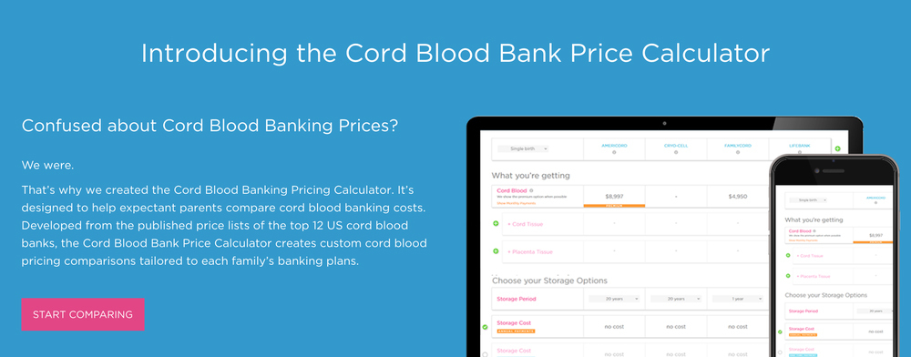 Americord Launches Cord Blood Banking Pricing Calculator Business Wire - product pricing calculator