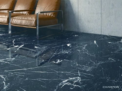 Medium Of Black Marble Tile