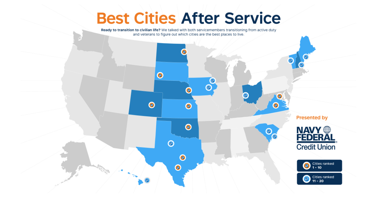 Navy Federal Releases Best Cities After Service Business Wire