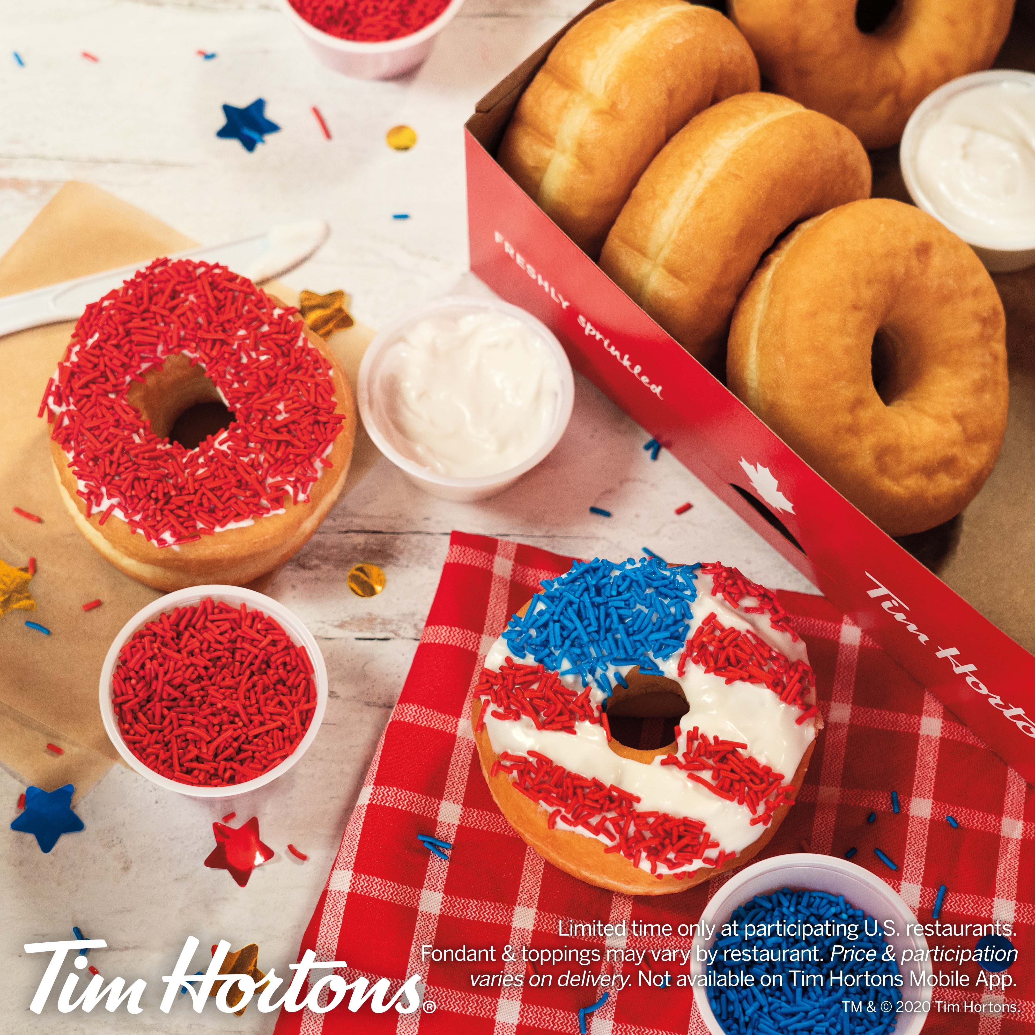 Tim Hortons U S Celebrates 4th Of July With Patriotic Diy Donut Kit Business Wire