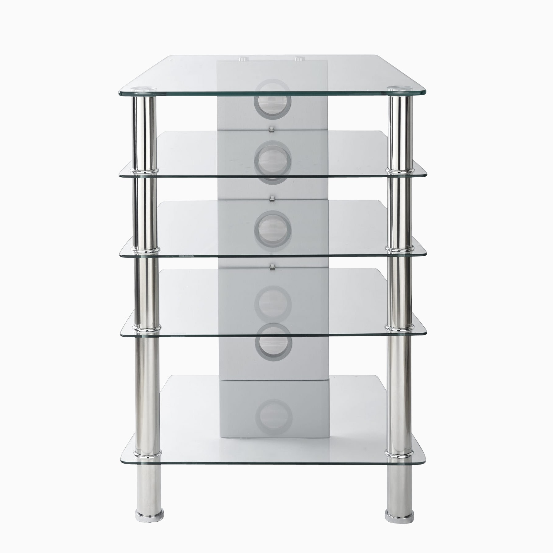 Hifi Rack Selbstbau Glas Mmt Hfclr610 Hi Fi Stand With Deep Clear Glass Shelves