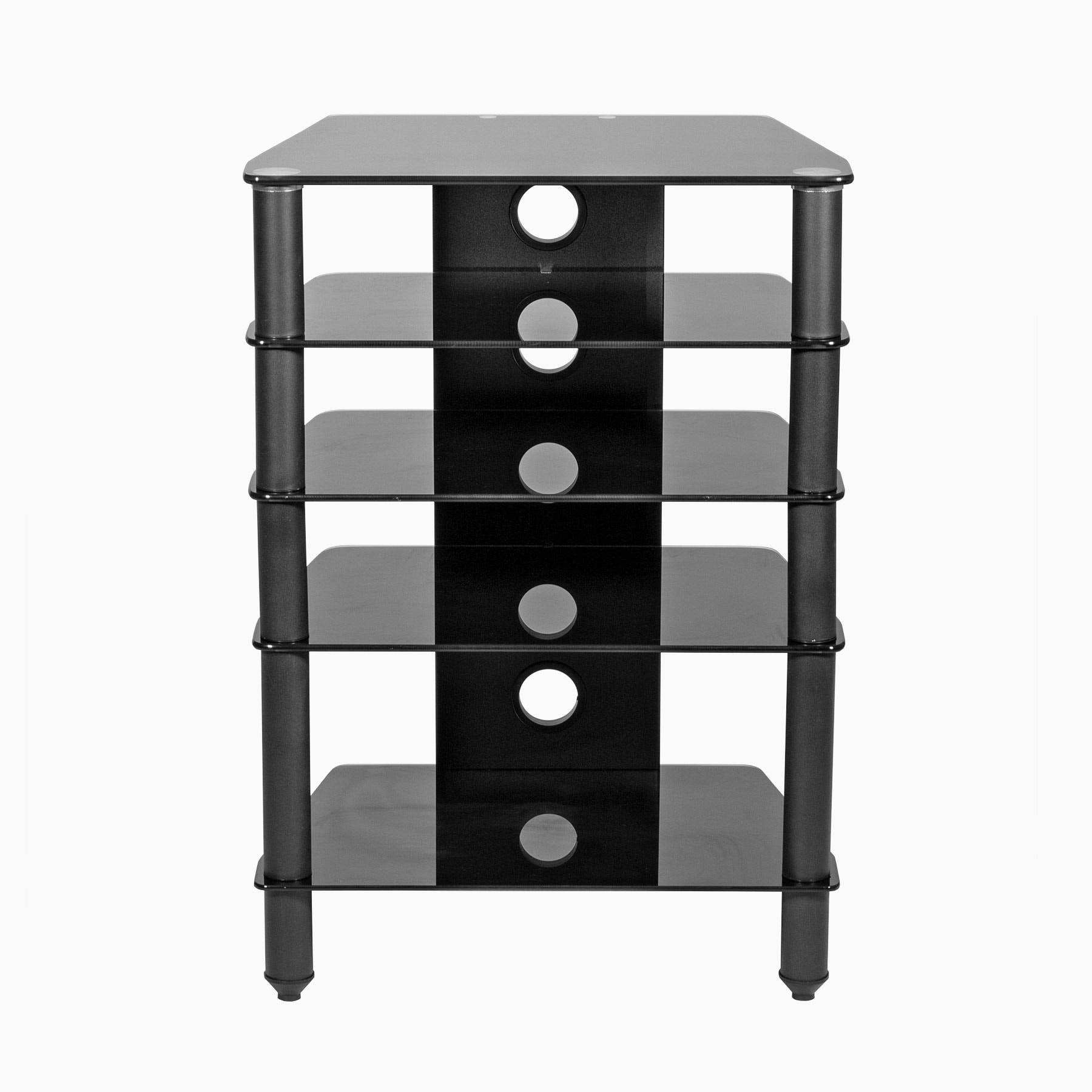 Hifi Rack Abschließbar Hi Fi Stand 500mm Deep Black Glass Shelves For Av