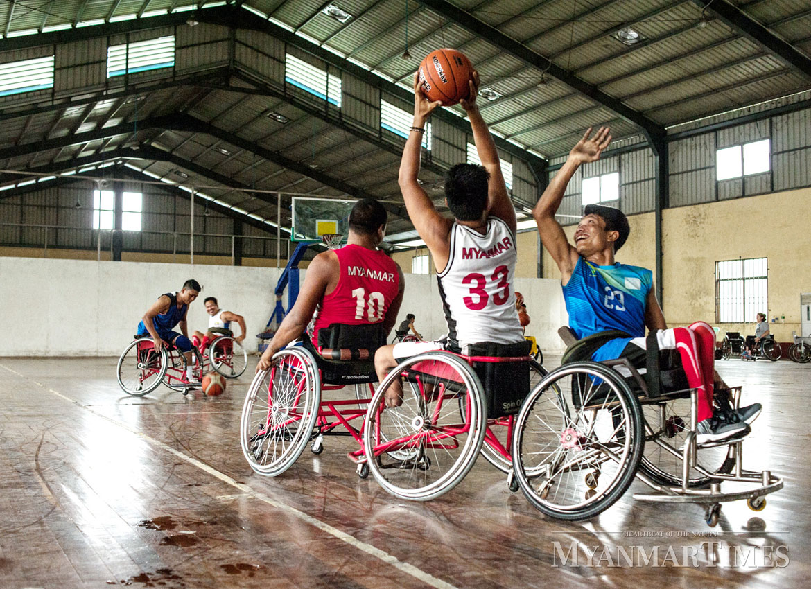 Ball Chair Playing Basketball In A Wheelchair | The Myanmar Times