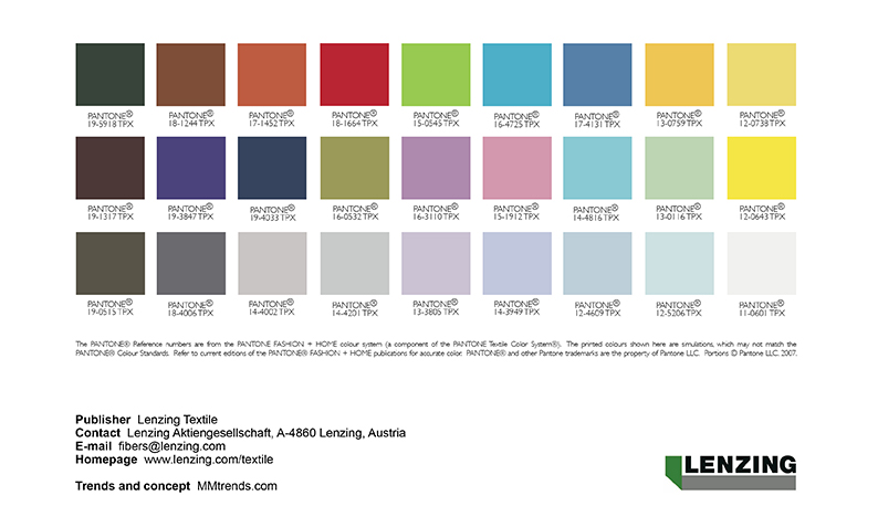 Colours for interior 2017 mm trends