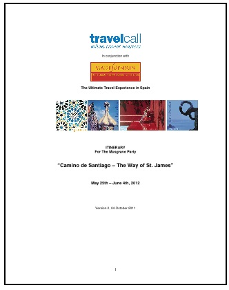 Descriptive Itinerary for Spain the M chronicles