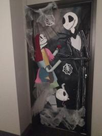 Apartment door Halloween contest