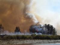 pagami creek smoke from water