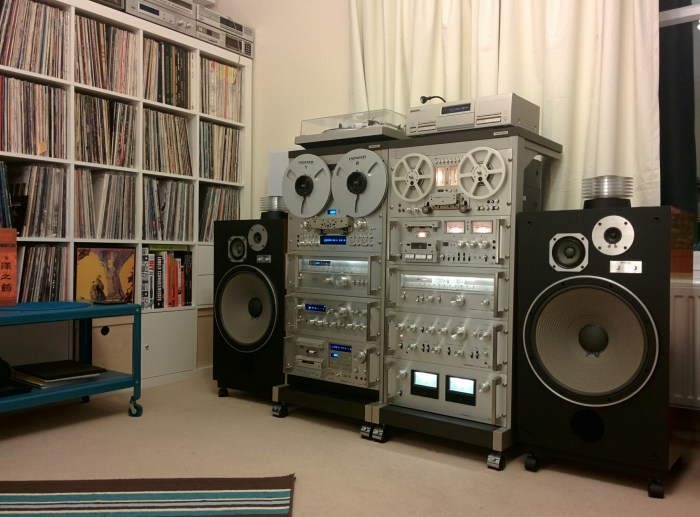 Hifi Reck Pioneer Spec, Blue Series Vintage Complete System With