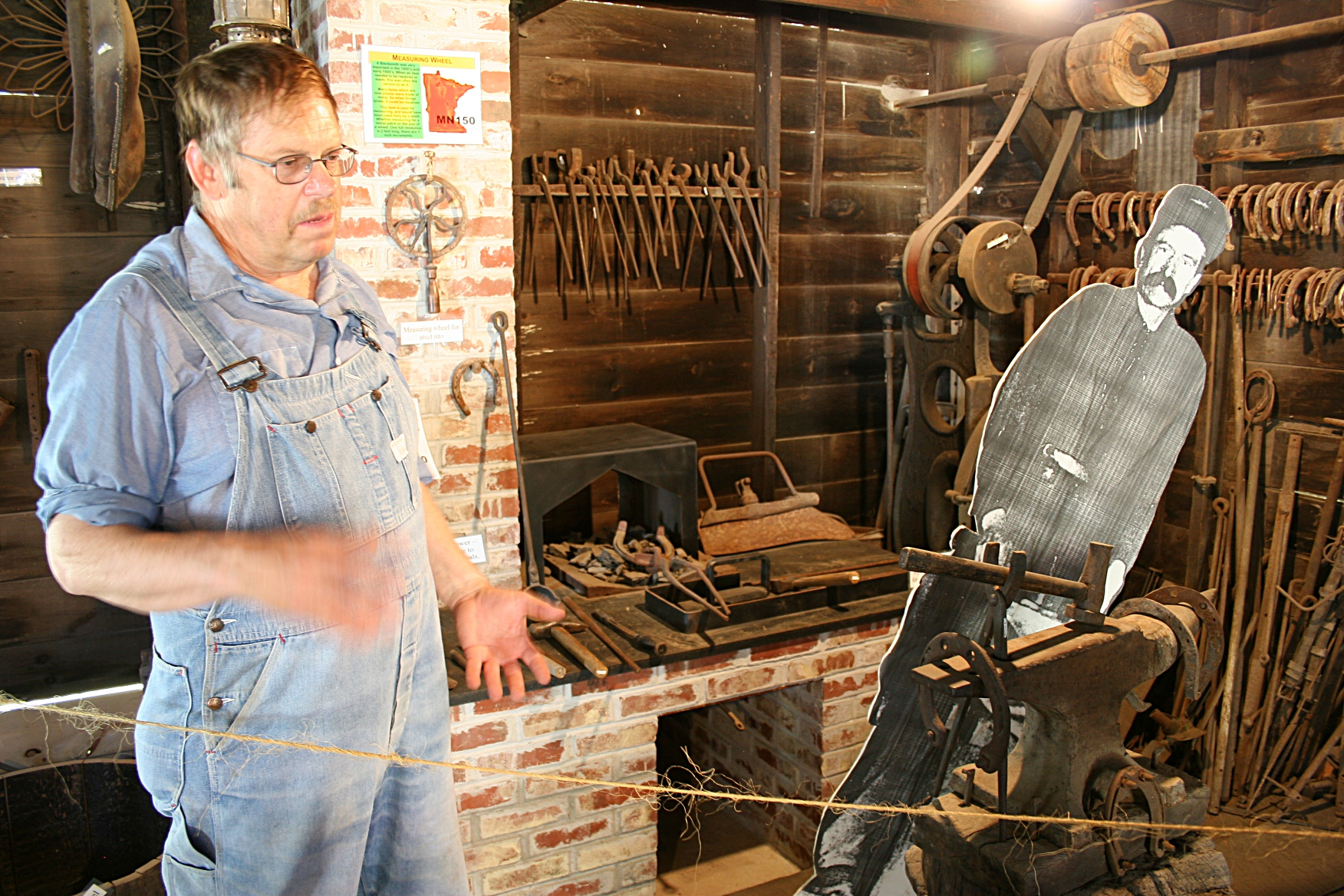 Dark And Light Forging Workbench Village Of Yesteryear Minnesota Prairie Roots