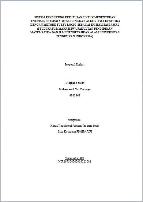 Metode Matematika Menggunakan Sistem Pendukung Keputusan Diskusiskripsi Membuat Proposal Skripsi Universitas Pendidikan Indonesia