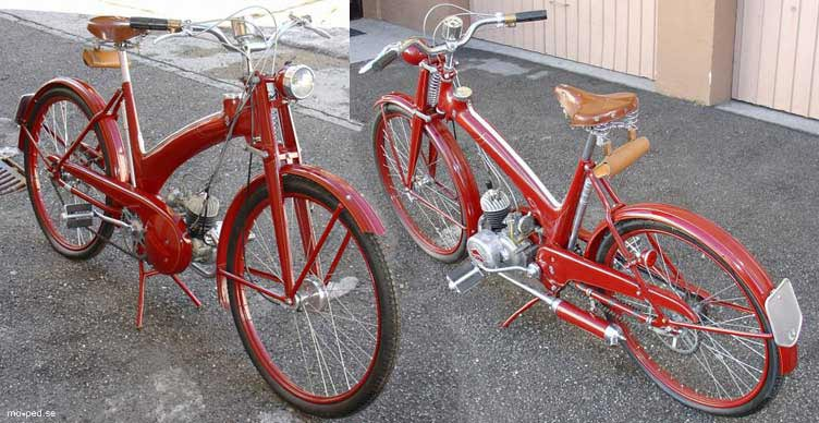 Rotbraun Farbe Hmw Foxinette 41 S - Hmw-moped Volksmoped Type 40 Vm.