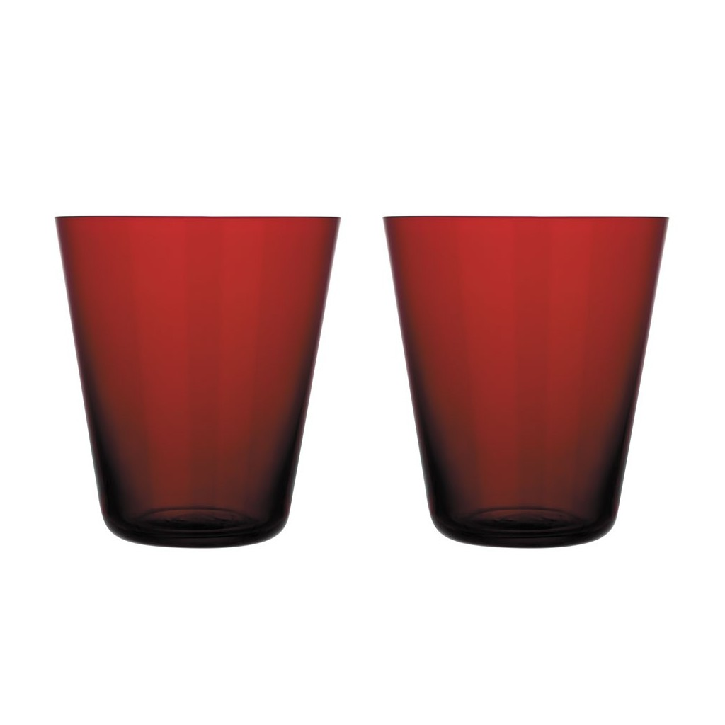 Iittala Kartio Kartio Thin Glass 340 Ml Set Of 2 Red Seasonal