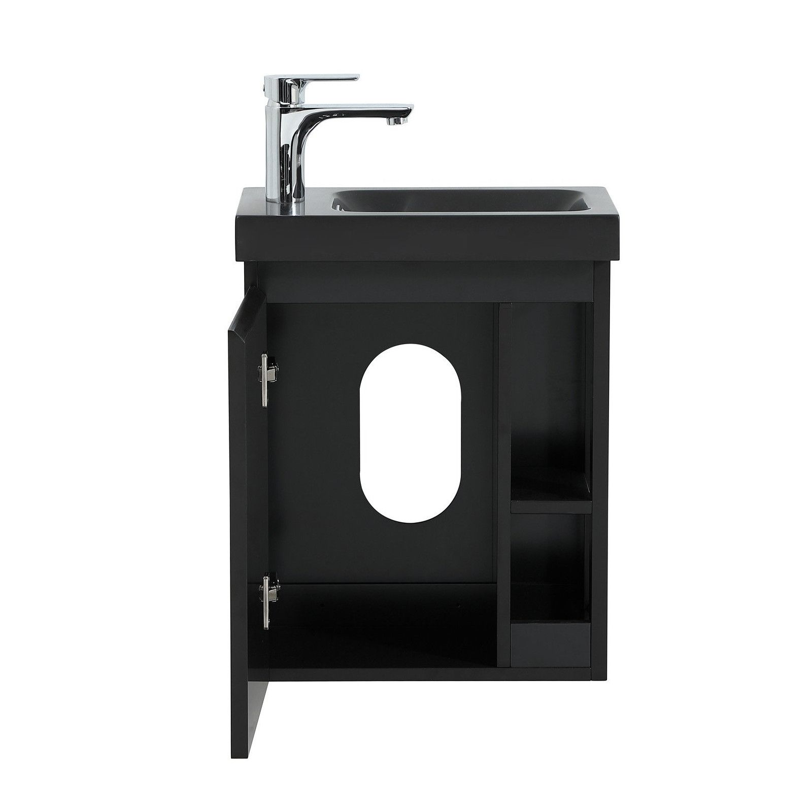Mob In Com Meuble Lave Mains Hampton Noir Carbone Noir